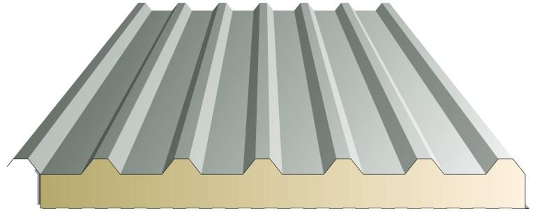 metalen PROFIELPLATEN geïsoleerd met PU schuim